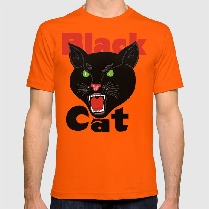 056b7f4d9c58 Black Cat Fireworks T-shirt cool retro novelty 70 s 80 s vintage tee T-shirt  by arul85