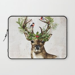 Rustic Christmas Deer Laptop Sleeve