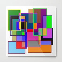 Colour collage white Metal Print