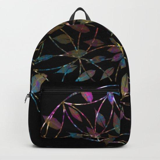 Boho Mandala Flower Splatter Backpack