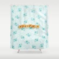 alaska Shower Curtains featuring Alaska by samantha lawson