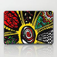 hippy iPad Cases featuring Patchwork Hippy Flower by Silvio Ledbetter