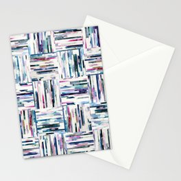 Quilted LINEA Abstract Paper Collage Stationery Cards