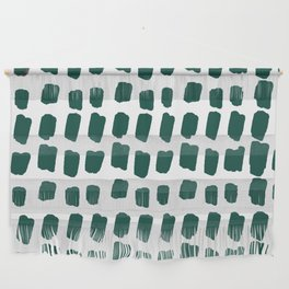 Green Abstract Paint Splotches Wall Hanging