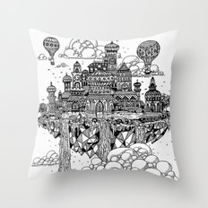 Floating city Throw Pillow