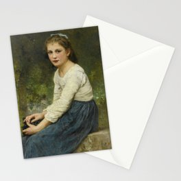 """William-Adolphe Bouguereau """"Young girl with grapes (Jeune fille aux raisins)"""" Stationery Cards"""