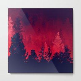 Red Wilderness Metal Print