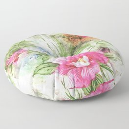 Couple of Flowers #floral #society6 #watercolor Floor Pillow