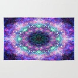 Trippy Purple Deep Space Mandala Rug