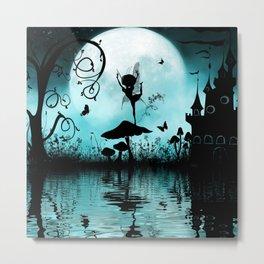 Dancing in the night, cute fairy Metal Print