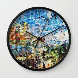 Modern Geometrical Colorful Squares - Art By Sharon Cummings Wall Clock