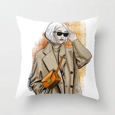 Fall fashion Throw Pillow