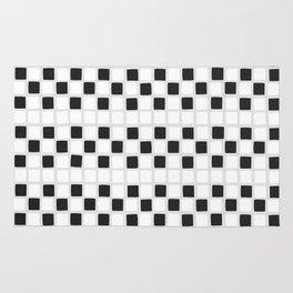 mini tiles in black Rug