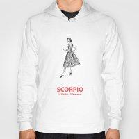 scorpio Hoodies featuring Scorpio by Cansu Girgin
