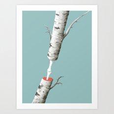 Anatomy of a Tree - iPad painting Art Print