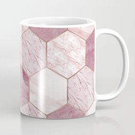 Deep rose marble honeycomb Coffee Mug