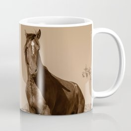 Wild_Horses Sepia 3501 - Nevada Coffee Mug
