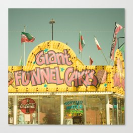 Giant Funnel Cakes Carnival Fair Food Funnel Cakes  Elephant Ears Foodie Art Canvas Print