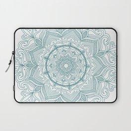 Teal Flower Mandala Laptop Sleeve