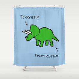 Triceratops Tricerabottom Shower Curtain