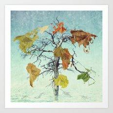 Earth Tree (The Beginnings) Art Print