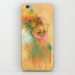 Bubble Gum Funky Girl iPhone Skin
