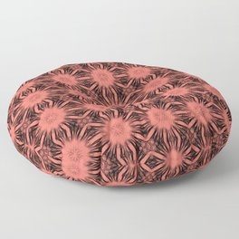 Peach Echo Floral Abstract Floor Pillow