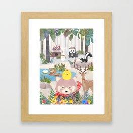 Roo's forest friend Framed Art Print