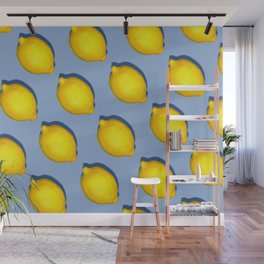 Yellow Lemons Wall Mural