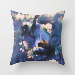 A Cat's Dream Throw Pillow