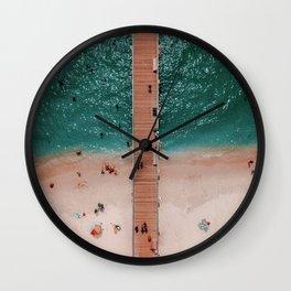 hello ocean / summer of love Wall Clock