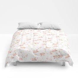 Baby Pink Rosebuds Comforters