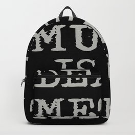 Death Metal Music Is My Therapy Backpack