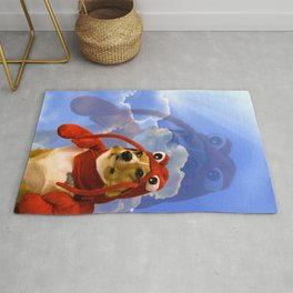 Lobster Corgi Rug