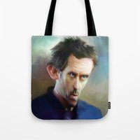 house md Tote Bags featuring house md by robotrake