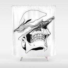 Skull #2 (Liquify) Shower Curtain