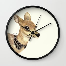 Fancy Deer Wall Clock