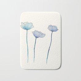Blue Flowers Bath Mat