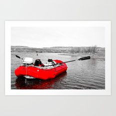 Floating Red Art Print