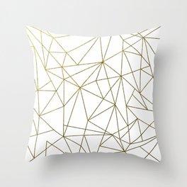 GOLD GEOMETRIC PILLOW Throw Pillow