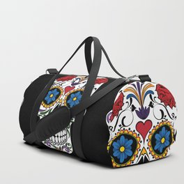 Colorful Sugar Skull Duffle Bag