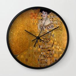 The Woman In Gold Bloch-Bauer I by Gustav Klimt Wall Clock