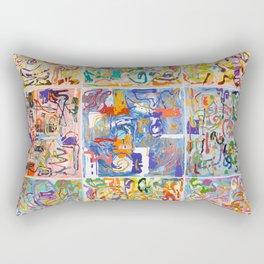 Shamanic Painting 1-9 Rectangular Pillow