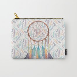 Gypsy Dreams Dreamcatcher on White Carry-All Pouch