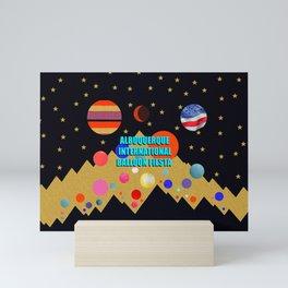 Albuquerque International Balloon Fiesta print design Mini Art Print