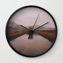 Iceland Road Wall Clock