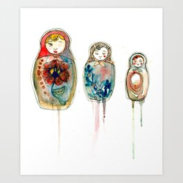 russian dolls Art Print