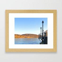 Delaware River in Autumn Framed Art Print