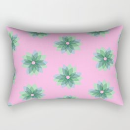 Geo Spring Flowers 03 Rectangular Pillow