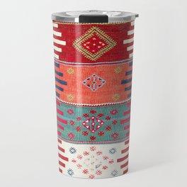 Kurdish Malatya East Anatolian Saf Kilim Print Travel Mug